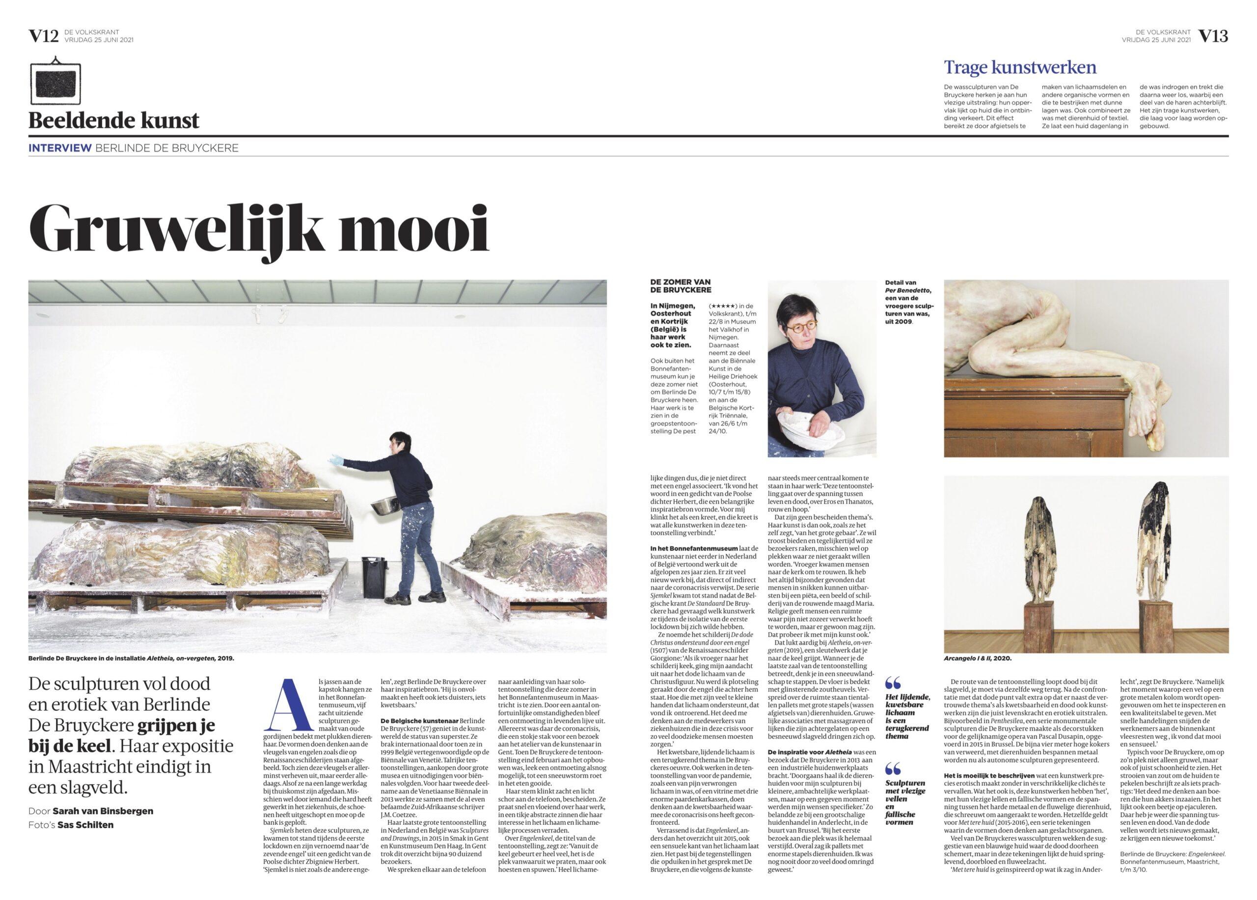 Berlinde de Bruyckere voor Volkskrant Magazine | Sas Schilten fotografie